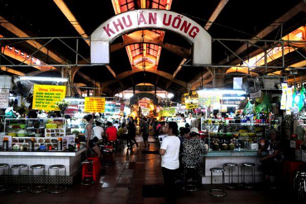 Góc phố ẩm thực tại chợ Bến Thành